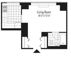 floorplan for 601 W. 57th Street #27D