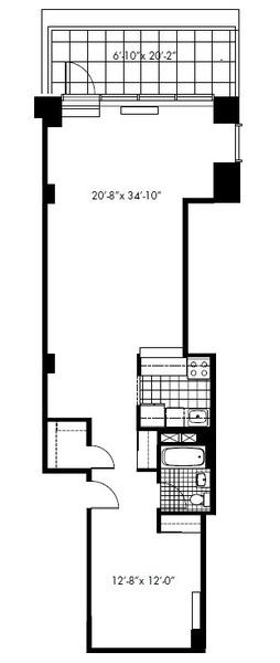 floorplan for 50 Murray Street #0012