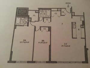 floorplan for 55 West 14th Street #11D