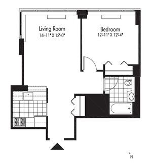 floorplan for 601 W 57th Street #30F