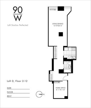 floorplan for 90 Washington Street #11D