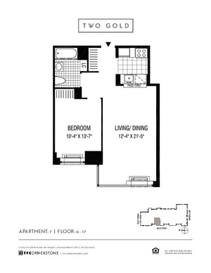 floorplan for 2 Gold Street #1407