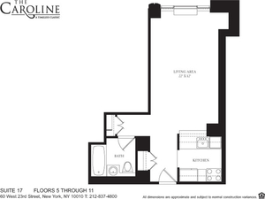 floorplan for 60 West 23rd Street #517
