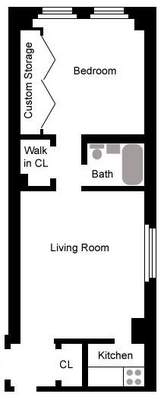 floorplan for 49 West 72nd Street #10B