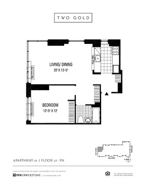 floorplan for 2 Gold Street #4010