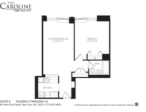 floorplan for 60 West 23rd Street #1609