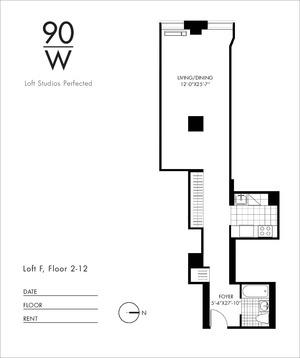 floorplan for 90 Washington Street #6F