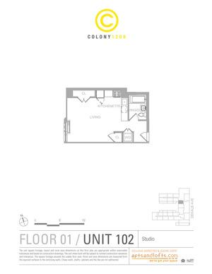floorplan for 1209 Dekalb Avenue #102