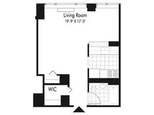 floorplan for 601 West 57th Street #12P