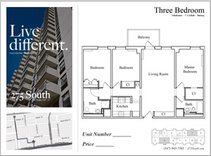 floorplan for 275 South Street #18J