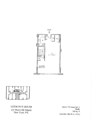 floorplan for 55 West 14th Street #4E