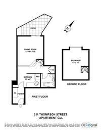 floorplan for 211 Thompson Street #GLL