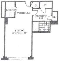 floorplan for 30 Park Avenue #9H