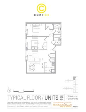 floorplan for 1209 Dekalb Avenue #2012