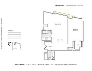floorplan for 75 West Street #2E