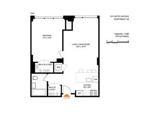 floorplan for 315 Gates Avenue #4B
