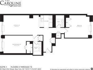 floorplan for 60 West 23rd Street #1401