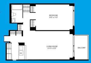 floorplan for 108 East 96th Street #11B