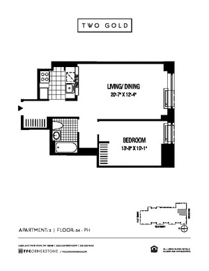 floorplan for 2 Gold Street #3602