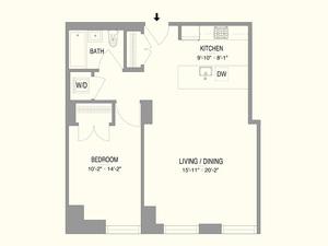 floorplan for 55 West 17th Street #1002