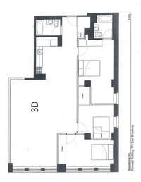 floorplan for 175 East Broadway #3D