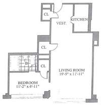 floorplan for 30 Park Avenue #12G