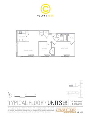 floorplan for 1209 Dekalb Avenue #2309