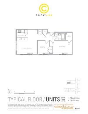 floorplan for 1209 Dekalb Avenue #209