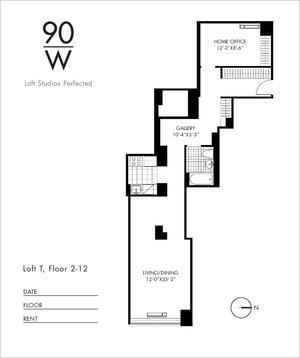 floorplan for 90 Washington Street #8T