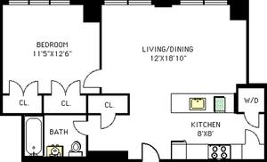 floorplan for 315 Gates Avenue #2N