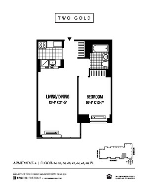 floorplan for 2 Gold Street #3804