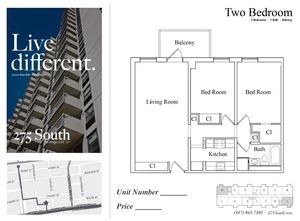 floorplan for 275 South Street #15C
