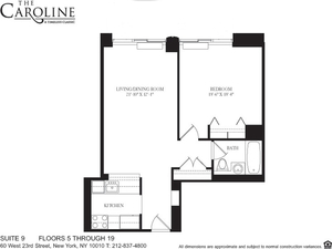 floorplan for 60 West 23rd Street #609