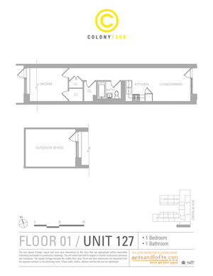 floorplan for 1209 Dekalb Avenue #1271