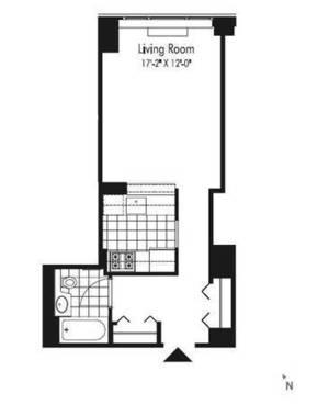 floorplan for 601 West 57 #32J