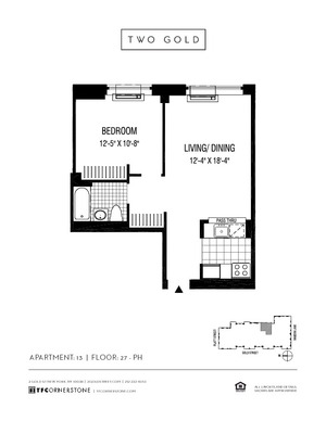 floorplan for 2 Gold Street #3113