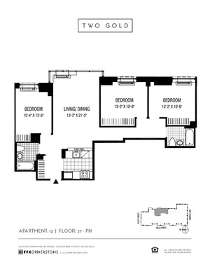 floorplan for 2 Gold Street #3912