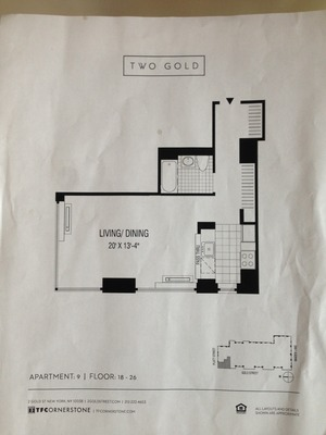 floorplan for 2 Gold Street #2009