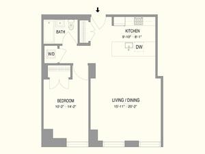 floorplan for 55 West 17th Street #702