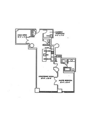 floorplan for 1 Main Street #7K