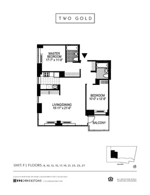 floorplan for 2 Gold Street #10F