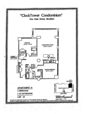 floorplan for 1 Main Street #10H