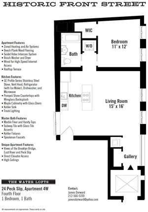 floorplan for 24 Peck Slip #4W
