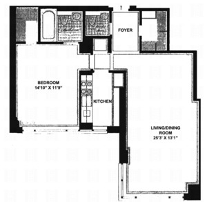 floorplan for 30 East 85th Street #6E