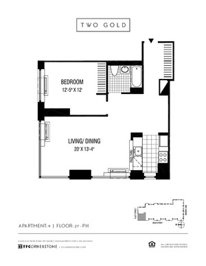 floorplan for 2 Gold Street #3909