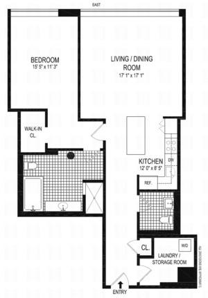 floorplan for 1 Main Street #12G