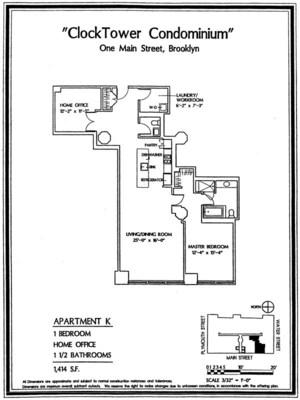 floorplan for 1 Main Street #4K