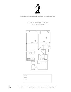 floorplan for 21 West End Avenue #1314