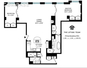 floorplan for 173 East Broadway #PH