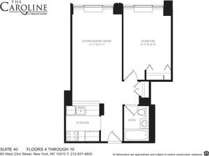 floorplan for 60 West 23rd Street #640